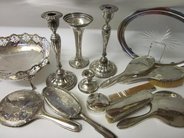 A silver bowl,  Birmingham 1924,   (Qty)