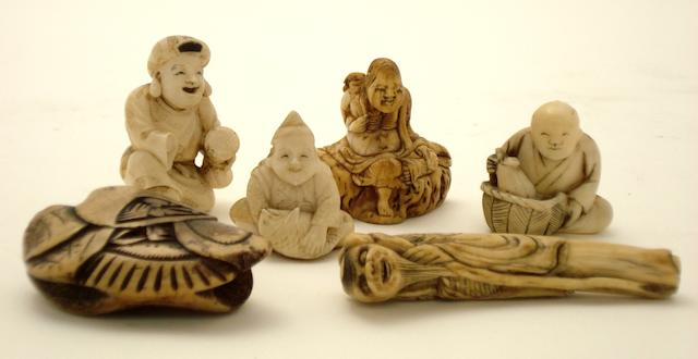 A small collection of netsuke Edo/Meiji