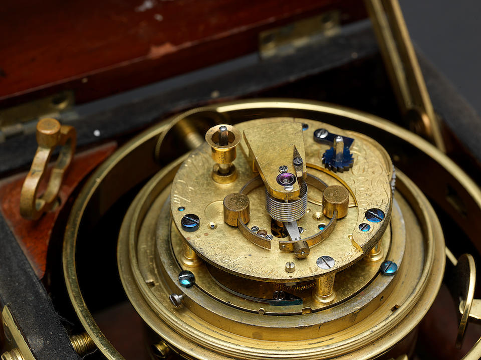 An important second quarter of the 19th century marine chronometer used on the second voyage of HMS Beagle and subsequently for the North American Boundary Expedition W.E. Frodsham, London, number 2, dated 1825