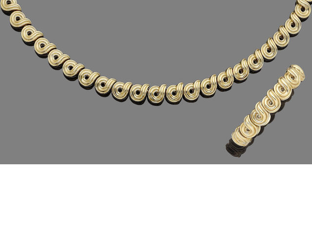 A fancy-link necklace and bangle suite, by Boucheron (2)