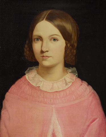 Continental School, 19th Century Portrait of a young woman