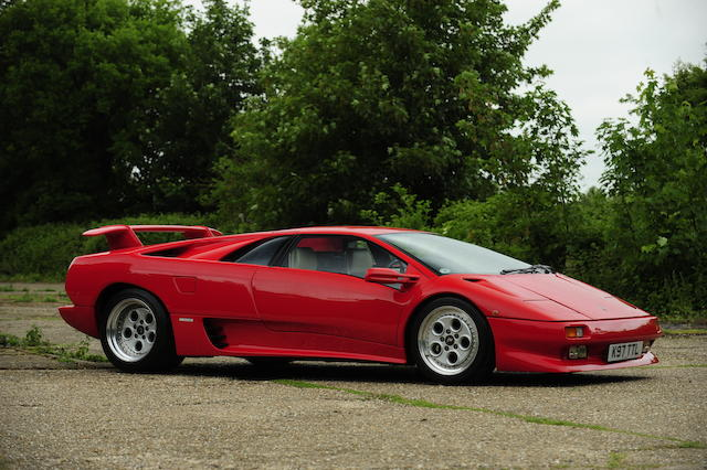 1993 Lamborghini Diablo Coupé  Chassis no. ZA9DE07A0NLA12416 Engine no. 12416
