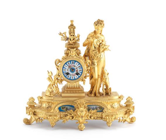 Gilt Sevres clock