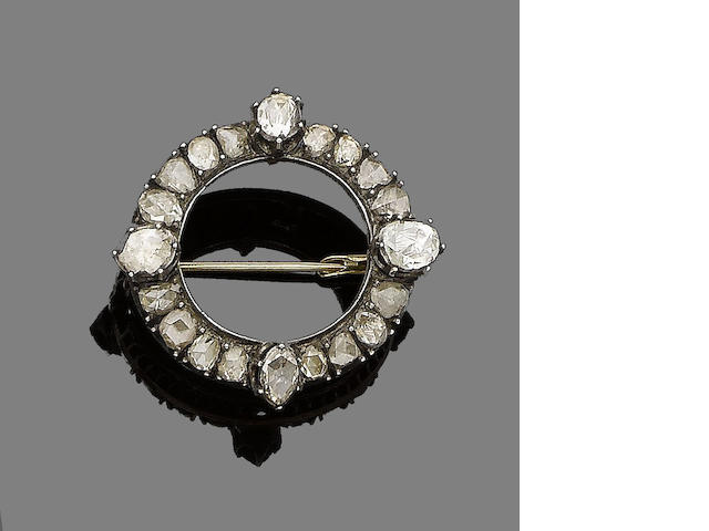 A diamond brooch,