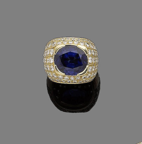 A sapphire and diamond dress ring, by Repossi
