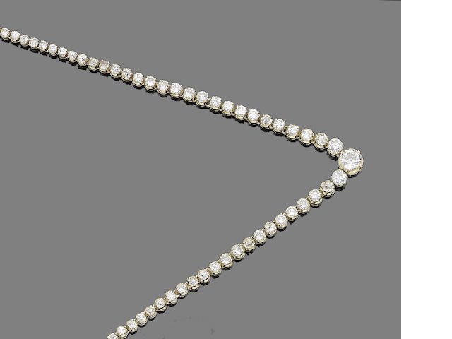 A diamond rivière necklace