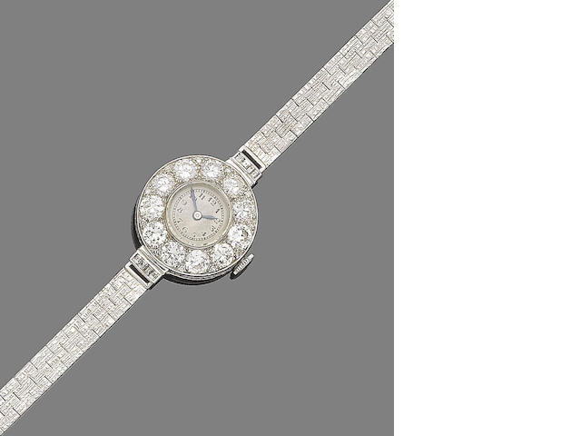 A diamond cocktail watch,