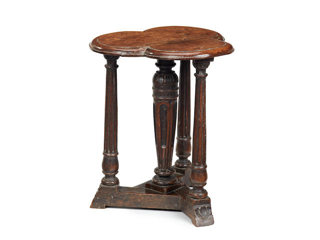 An exceptionally rare and important Elizabeth I oak stool, circa 1560-80
