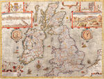 MAP: GREAT BRITAIN SPEED (JOHN) The Kingdome of Great Britaine and Ireland