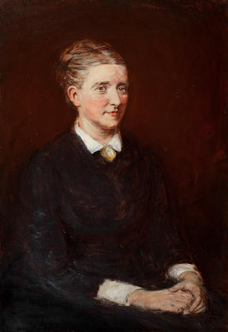 William McTaggart, RSA RSW (British, 1835-1910) Portrait of Mary McTaggart, 91 x 64 cm. (35 13/16 x 25 3/16 in.)
