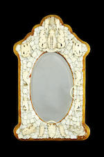 A pair of Dieppe 19th century ivory mirrors