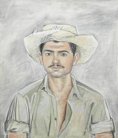 John Craxton R.A. (British, 1922-2009) Portrait of a Cretan Fisherman 59.7 x 50 cm. (23 1/2 x 19 3/4 in.)