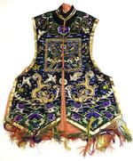 A collection of three robes together with pieces of costume and embroidered fragments Late 19th/early 20th century