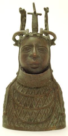 A bronze bust African