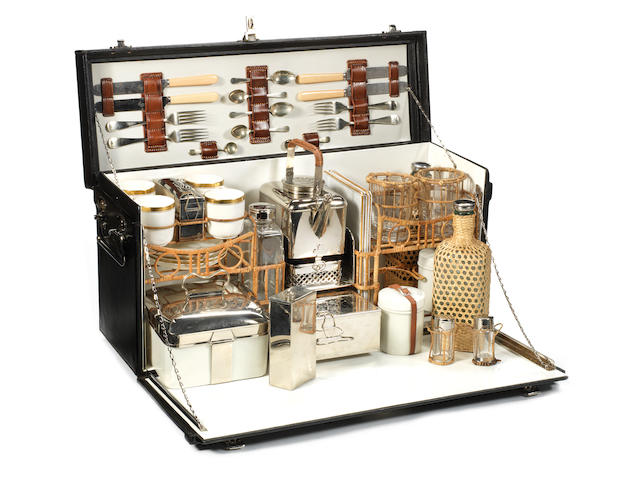 A cased picnic and tea set for four persons, by G W Scott & Sons, circa 1911,