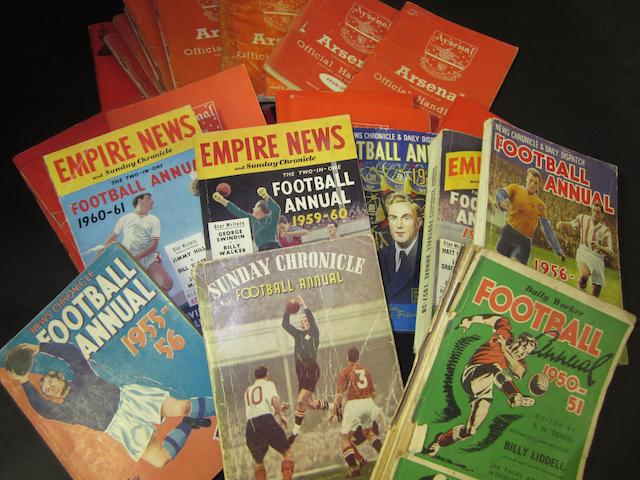 A collection of 1950's/60's mainly Arsenal home programmes