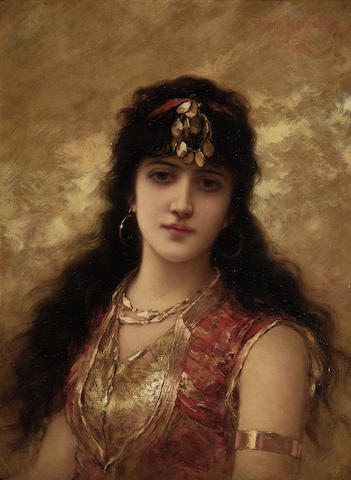 Emile Eisman-Semenowsky (Polish, 1857-1911) An Eastern Beauty
