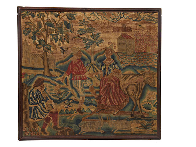 An early 18th century woolwork picture