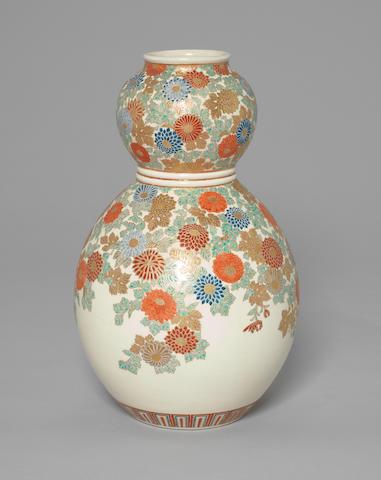 A double gourd form Satsuma vase Meiji Period