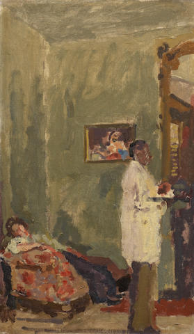 Walter Richard Sickert A.R.A. (British, 1860-1942) The Artist's Home in New Orleans 51 x 30.5 cm. (20 1/8 x 12 in.)