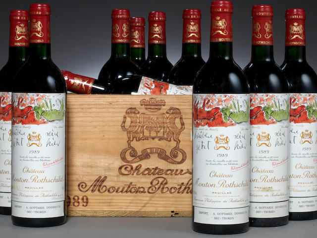 Chateau Mouton Rothschild 1989 (10)