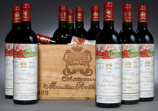Chateau Mouton Rothschild 1989 (10)