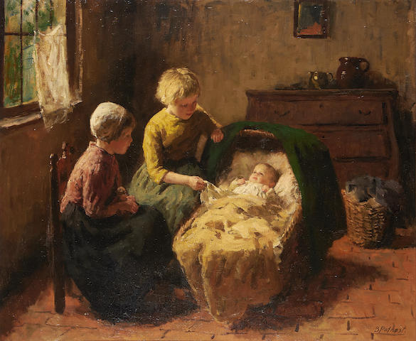 Bernard Pothast (Dutch, 1882-1966) The newborn