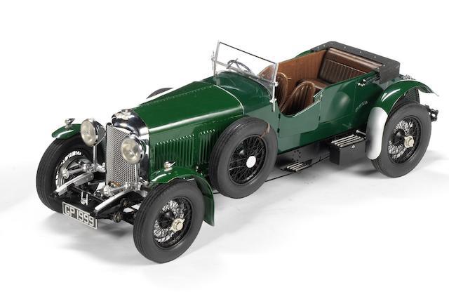 A fine 1:12 scale model of a 1930 Bentley Eight-Litre, by Fulgurex,