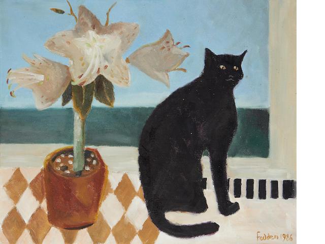Mary Fedden R.A. (British, 1915-2012) Lilies 45.7 x 55.9 cm. (18 x 22 in.)
