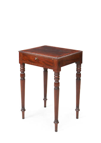 A Regency mahogany side table in the manner of Gillows