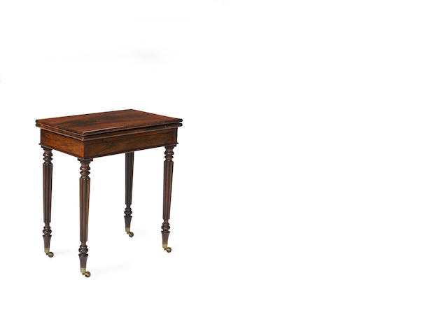 A Regency rosewood card table in the manner of Gillows
