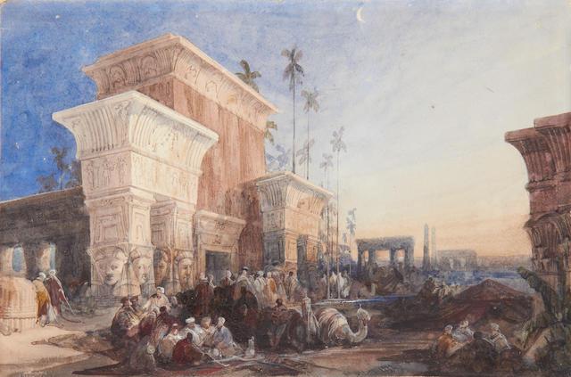 David Roberts, RA (British, 1796-1864) 'The Halt in the Desert'
