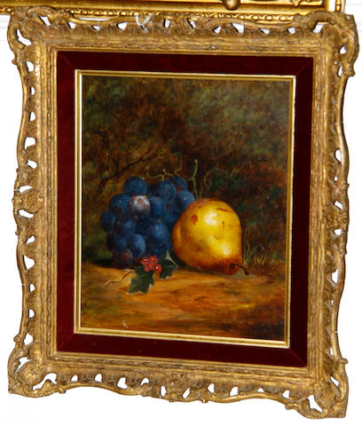 English School, mid-late 19th Century Still lives of fruit, a pair