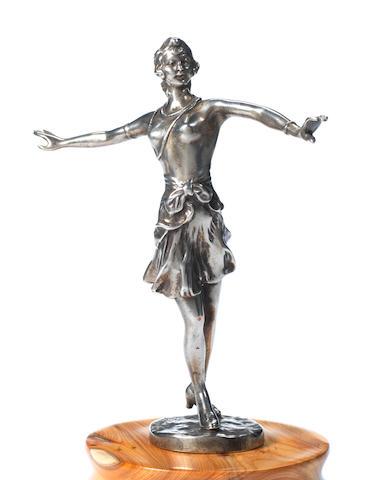 A 'Dancing Girl' mascot, by K Schinko, 1920s,