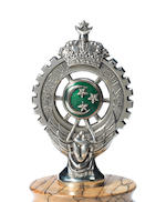 A Royal Automobile Club d'Egypte enamelled car badge, 1924,