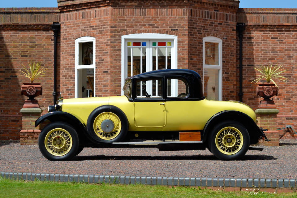 1924 Aster 18/50hp Coupé with Dickey Seat  Chassis no. 133 Engine no. 5278W