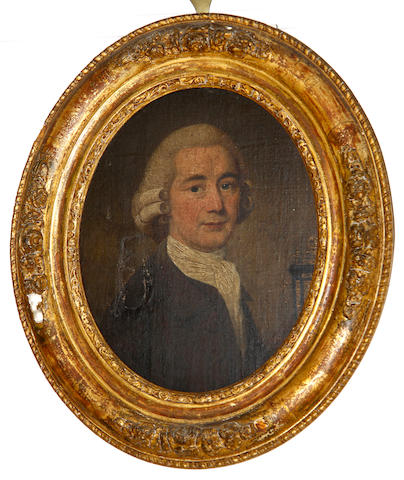 English School, late 18th Century Portrait of a gentleman, said to be Nathaniel Brown (died 1800), bust length (cut down)