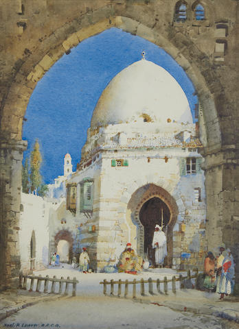 Noel Harry Leaver, ARCA (British, 1889-1951) Moorish gateways, a pair. (2)