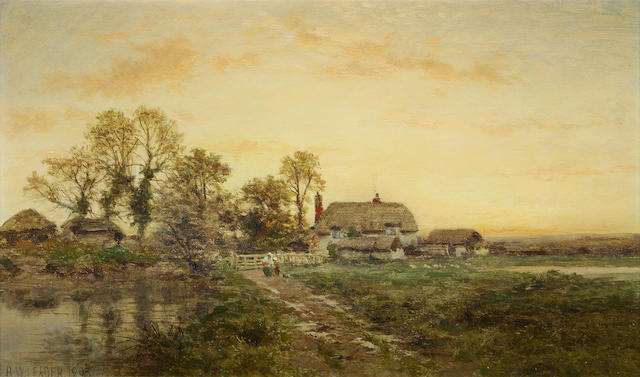 Benjamin Williams Leader, RA (British, 1831-1923) 'Kempsey Common, Worcestershire'