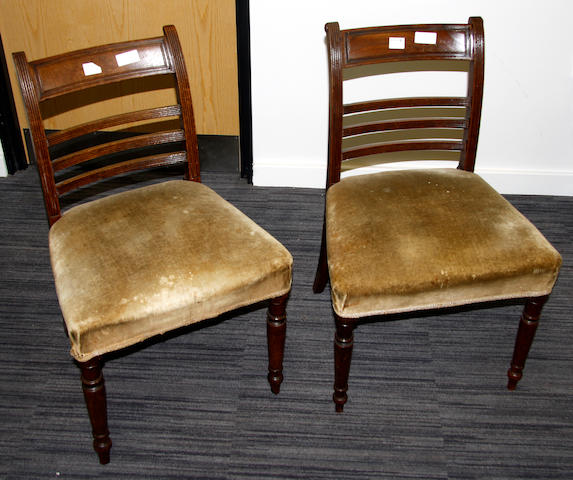 A pair of George IV mahogany dining chairs