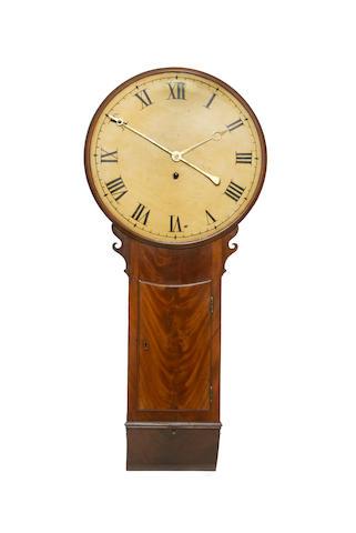 An early 19th century mahogany tavern clock