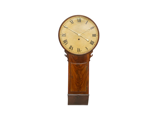An early 19th century mahogany tavern clock