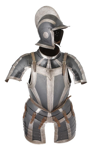 A German Black And White Half-Armour