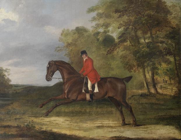 Thomas Weaver (British, 1774-1843) A gentleman on a bay hunter