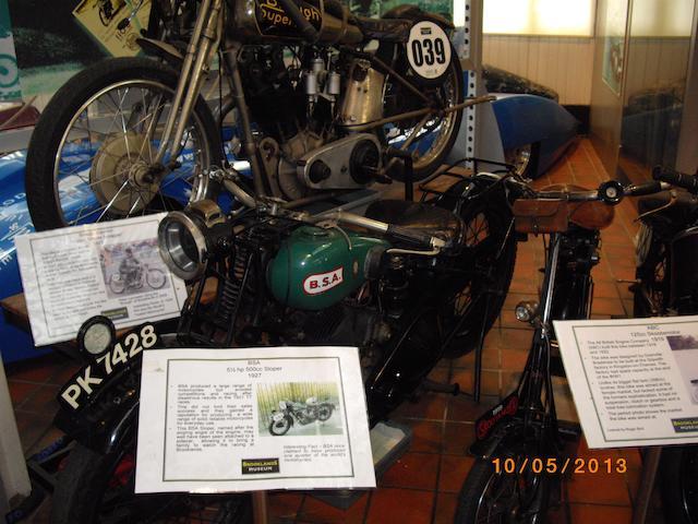 c.1928 BSA 557cc 'Sloper' Engine no. H.9681