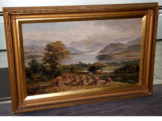G** Clayton (early 20th Century) Lakeland harvesting scene