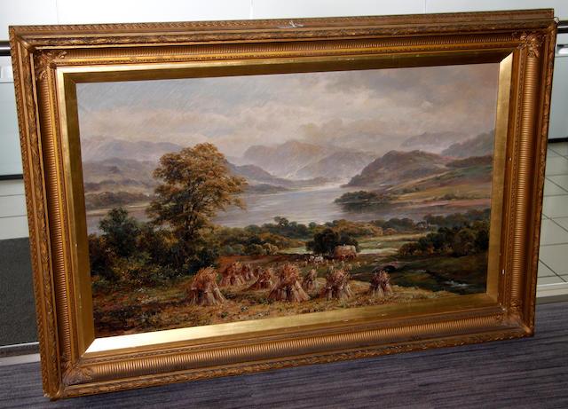 G** Clayton (early 20th Century) Lakeland harvesting scene