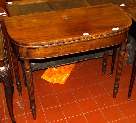 A George IV mahogany card table