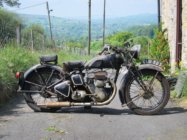 Property of a deceased's estate,1938 Triumph 598cc Model 6S Motorcycle Combination Project Frame no. TH3732