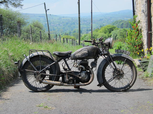 Property of a deceased's estate,c.1936 Velocette 249cc GTP Project Frame no. to be advised Engine no. GB5818